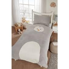 Polar Fleece Duvet Cover Kids Animal Fleece Duvet Set Single Bedding B U0026m