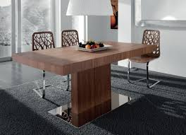 Dining Room Pedestal Tables Table Unusual Finest Wood Rectangular Pedestal Dining Table