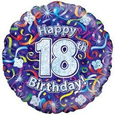 inflated balloon delivery happy 18th birthday purple streamers balloon delivered inflated in