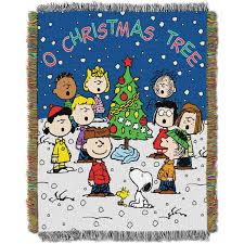 peanuts a brown christmas peanuts brown christmas 48 x 60 woven tapestry throw