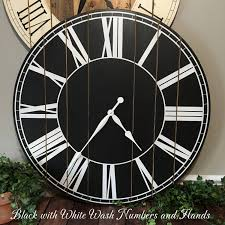 murale en bois horloge en bois mur rustique grande horloge