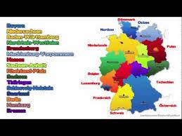 map of germany with states and capitals die 16 bundesländer der bundesrepublik deutschland und