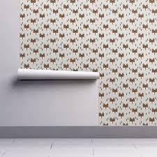 fox geometric fox head kids wallpaper by andrea lauren