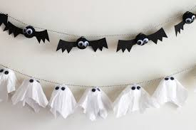 diy bat u0026 ghost garlands evite