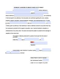 Special Power Of Attorney Sample Letter by Vermont Limited Special Power Of Attorney Form Power Of