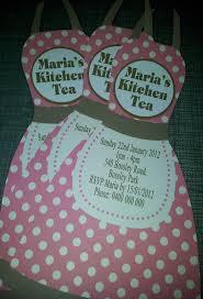 kitchen tea invites ideas pink pokerdot apron kitchen tea invitation