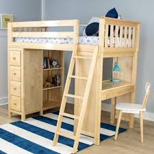 Amazon Com Bunk Bed All In 1 Loft With Trundle Desk Chest Closet by All In One Loft Bed Vnproweb Decoration