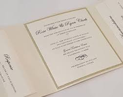 tri fold wedding invitations trifold wedding invitation etsy