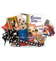 per gift basket chicken soup for the dog lover s soul gift basket pet gift
