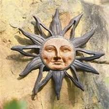 wall art designs outdoor wall art metal sun face celestial garden