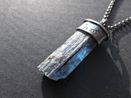 men crystal necklace images Blue kyanite crystal necklace big raw from crazyass jewelry jpg