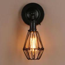 1pcs retro black bird cage bulb guard clamp lamp shade industrial