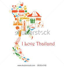 thailand vector map map thailand thai symbols form map stock vector 263514740