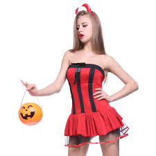 ladies vampire wicked witch red devil lady halloween fancy