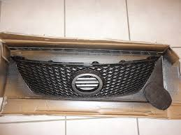 lexus is 250 black emblem custom painted isf grille with cf and oversize black pearl emblem