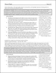 sample resume sample consultant resume example for a senior manager strategy consultant resume page 2