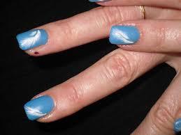 dessin sur ongle en gel passion u0027nail pose d u0027ongles en gel bleu comme le ciel et léger