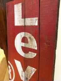 wood print onward display