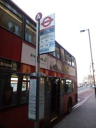 image bus stop listing the buses to from borough station in