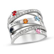 family birthstone rings mothers rings and family personalized jewelry personalized
