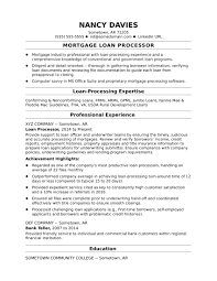 sle resume for patient service associate salary mortgage loan processor resume sle monster com