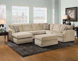 Left Sided Sectional Sofa Fashionable Burlywood Velvet U Shaped Sectional Sofa Living Room