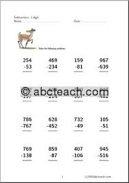 subtraction 3 digit subtraction with regrouping worksheet free