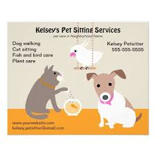 Pet Sitting Business Advertising Flyer Pet sitting
