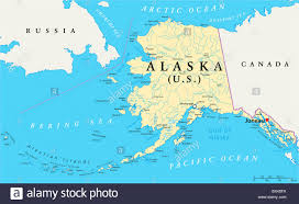 Alaska Route Map by Map Of Alaska Stock Photos U0026 Map Of Alaska Stock Images Alamy