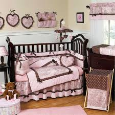 Butterfly Nursery Bedding Set by Nursery Beddings Pink And Brown Mini Crib Bedding With Baby
