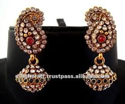 artificial earrings online indian traditional kundan polki earrings jumka earrings