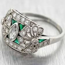 engagement ring sale antique emerald engagement rings for sale jewerly ideas gallery