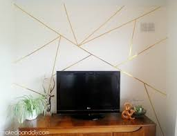 how to create a gold geometric feature wall in 20 minutes and