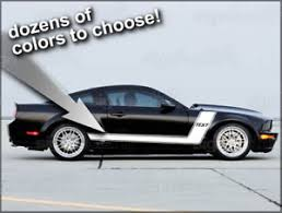 decals for ford mustang 2005 2009 ford mustang custom side stripe decals 2 graphics ebay