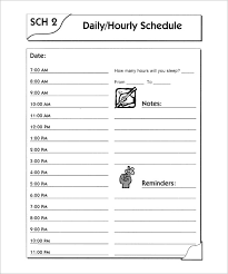 day schedule template u2013 7 free word excel pdf format download