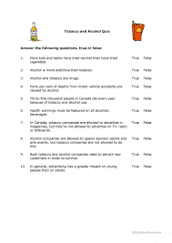tobacco and alcohol worksheet free esl printable worksheets made