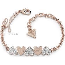gold guess bracelet images Ladies 39 guess rose gold plated heart bouquet bracelet ubb85102 l jpg