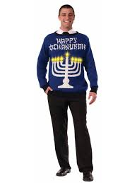 channukah sweater mens light up chanukah sweater