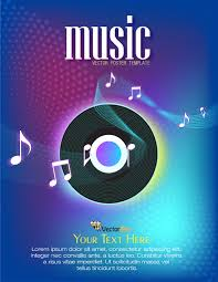 music poster template free vector 123freevectors