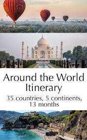 what travels around the world but stays in one spot images Our around the world itinerary earth trekkers jpg