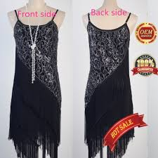 art deco great gatsby inspired tassel dress 1920s flapper cocktail