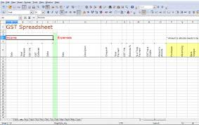 Simple Accounting Spreadsheet For Small Business Simple Gst Spreadsheet Australia Business Activity Statements