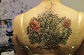 full back flower tattoo tattoo shortlist