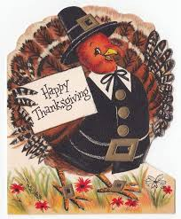 vintage greeting card happy thanksgiving die cut turkey hallmark