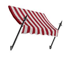 Red And White Striped Awning Buy Awntech8 Ft Wide X 7 Ft Projection Red White Striped Slope