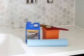 Installing Wall Tile How To Install A Marble Hexagon Tile Backsplash Just A Girl And