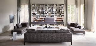 contemporary living room wall unit wooden glass 505 by