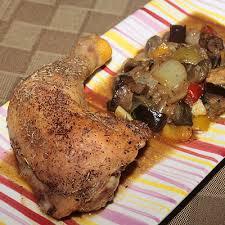 cuisine poulet au four recette cuisses de poulet au four simplement cuisine