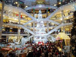 giant christmas displays are taking over malls throughout asia