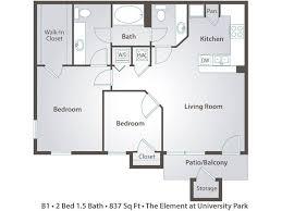 Floor Plan 2 Bedroom Apartment 2 Bedroom Apartment Floor Plans U0026 Pricing U2013 The Element At